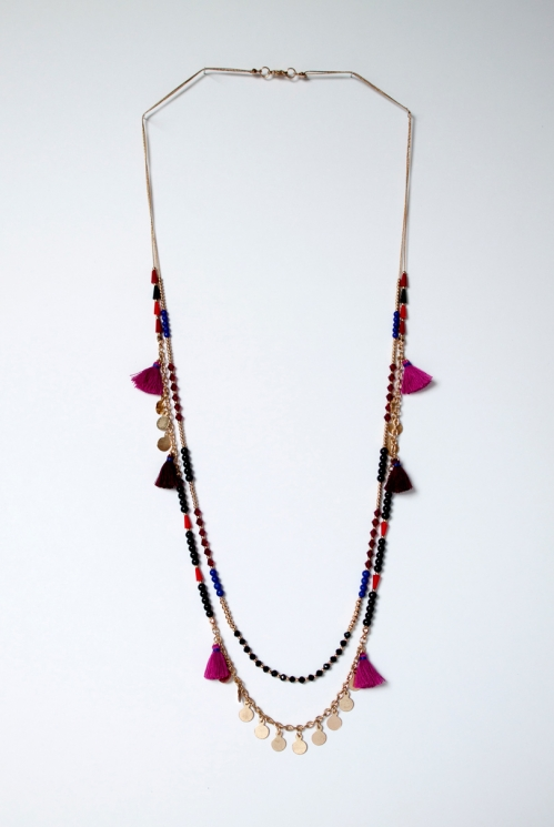 rose Rose Tassle Necklace