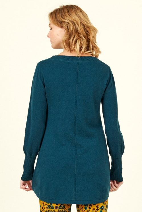 Fir Scoop Hem Merino Wool Jumper