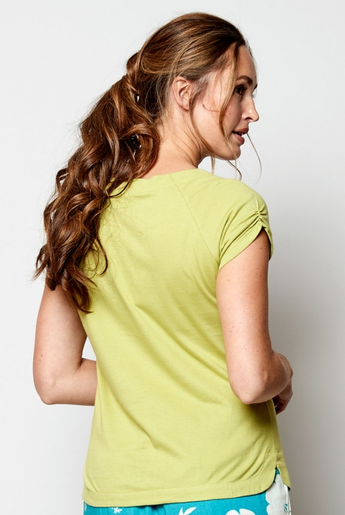 Kiwi Scoop Hem Organic Cotton T-Shirt