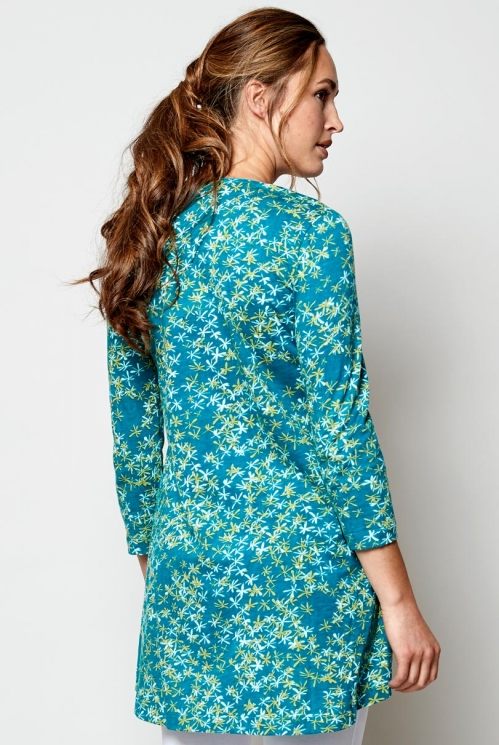 Lagoon Scoop Hem Organic Cotton Tunic