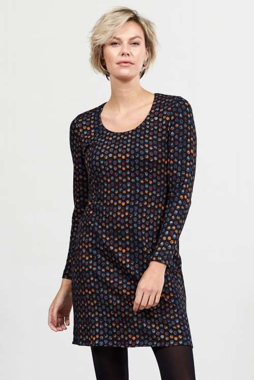Graphite Spotty Jersey Tunic Dress