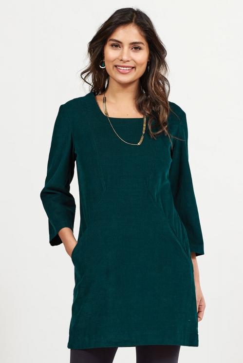 Bay Square Neck Cord Tunic Dress