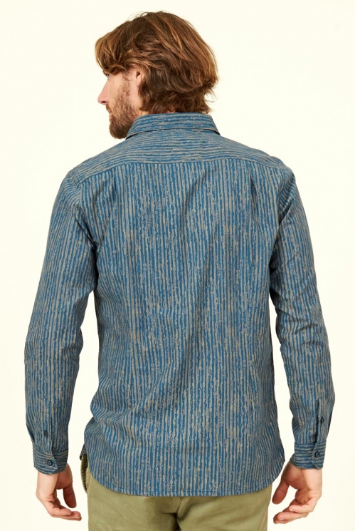 Biscay Stripe Long sleeve Cotton Shirt