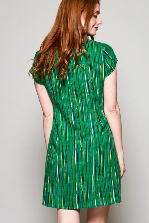 Leaf Green Ethically Made Tie Detail Multi-Way Dress