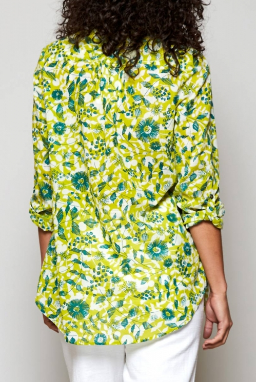 Citrus Green Sustainable Tresco Tunic Shirt