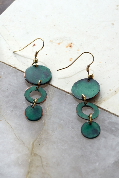 Mallard Triple Circle Drop Earrings