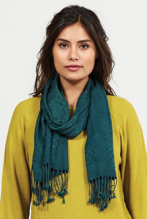 Bay Sustainable Viscose Tassel Scarf