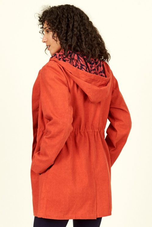 Saffron Organic Cotton Raincoat