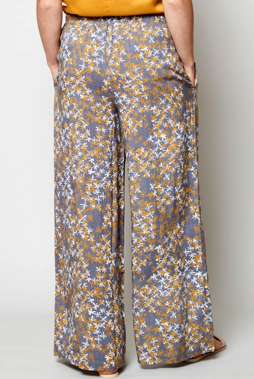 Aniseed Wide Leg Viscose Trousers