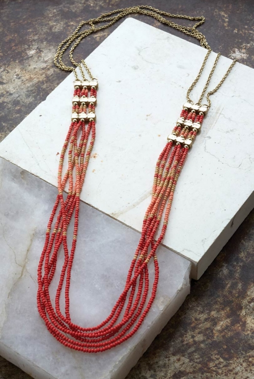 Koi Ziva Multi Strand Bead Necklace