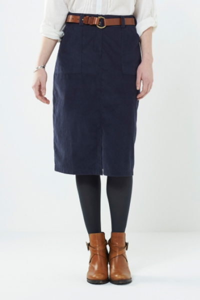 Plain Corduroy Skirt