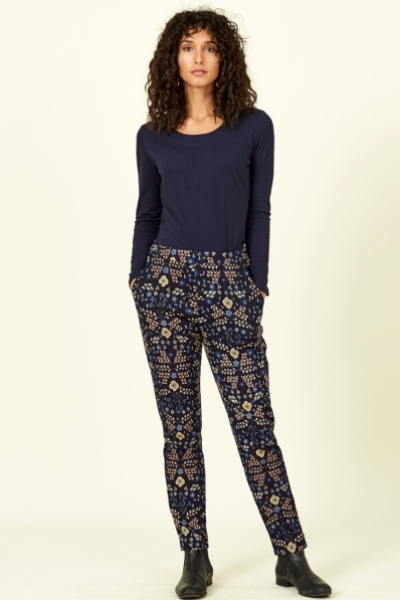 Bloomsbury Print Cotton Jersey Trousers