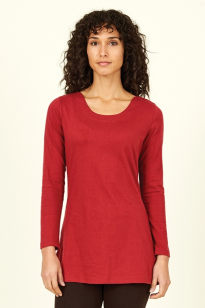 Boat Neck Organic Cotton Top