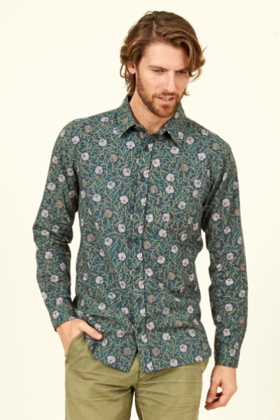 Botanical Long Sleeve Cotton Shirt