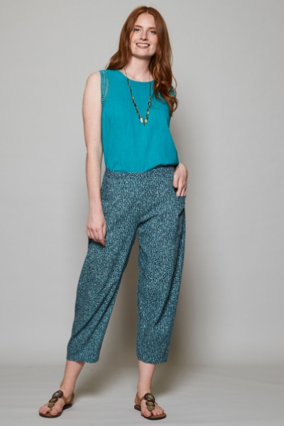 Cobble Relaxed Fit Crop Trousers