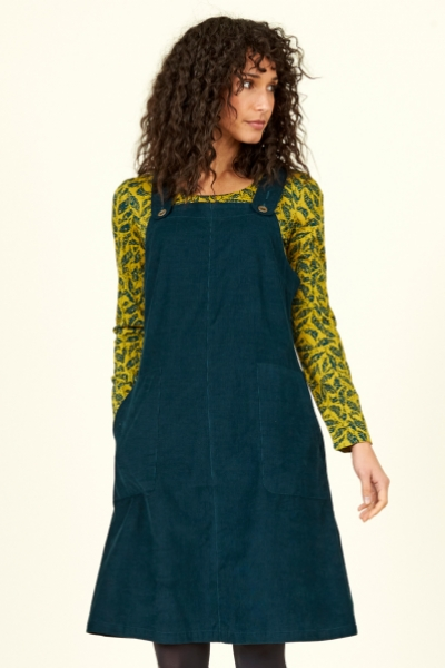 Cotton Cord Dungaree Dress