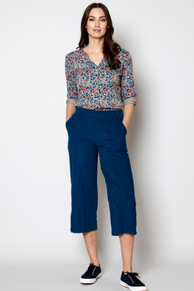 Cropped Needlecord Trouser