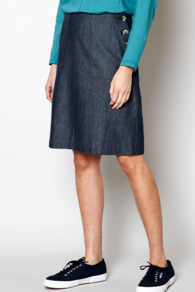 Fitted Chambray Skirt