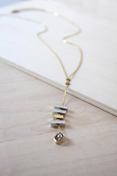 Geometric Block Necklace