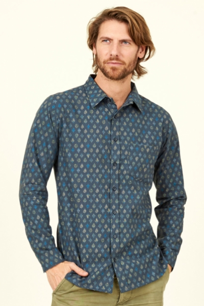 Leaf Long Sleeve Cotton Shirt