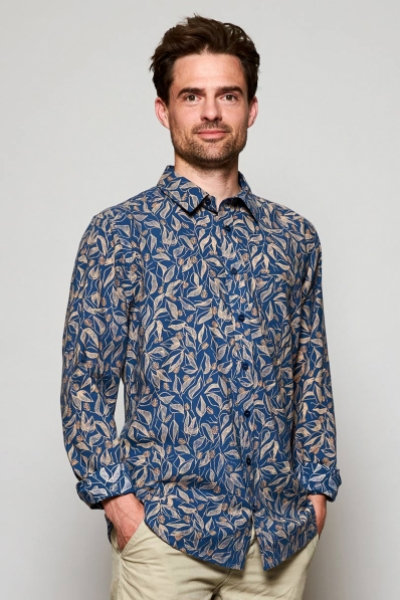 Long Sleeve Sundowner Print Cotton Shirt