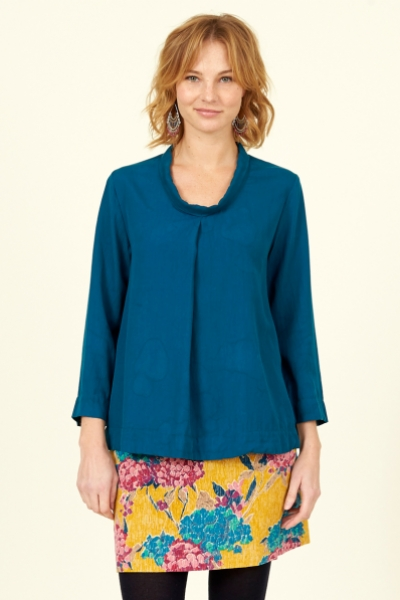 Lyocell Pleat Front Top