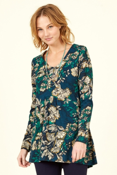 Organic Cotton Bold Floral Tunic