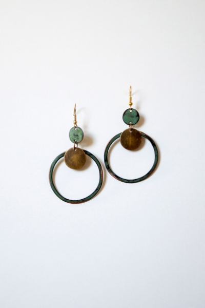 Patina Loop Earring