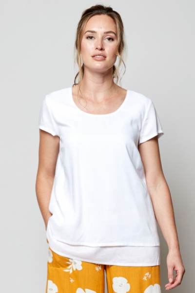 Plain Double Layer Top