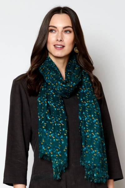 Printed Triangles Scarf