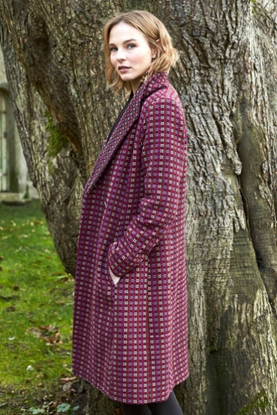 Shawl Collar Handloom Coat